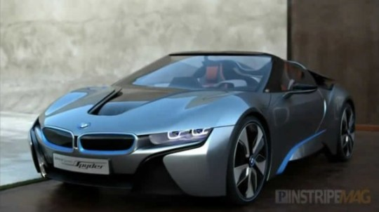 BMW i8 Concept Spyder hybrid, high-performance car