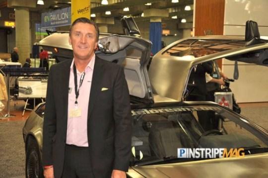 CEO Stephen Wynne, the NEW DeLorean DMC-EV, NY International Car Show 2012
