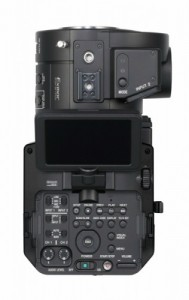Sony NEX-FS700, Full-hd Super Slow-Motion 4k camera, Top view