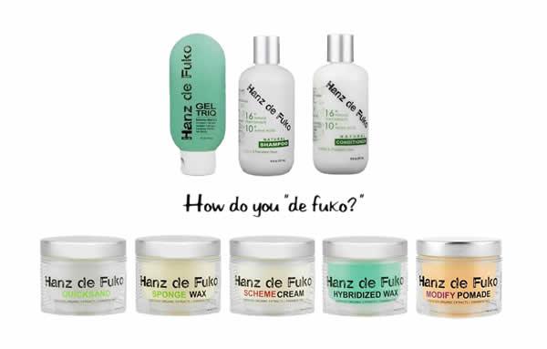Hanz de Fuko hair care products for men