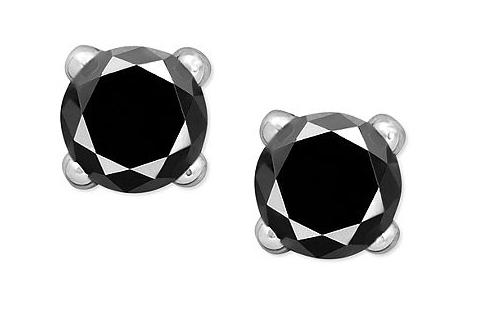 Victoria Townsend Black Diamond Stud Earrings