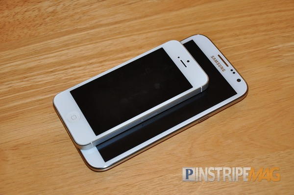 iPhone 5 and the Galaxy Note 2