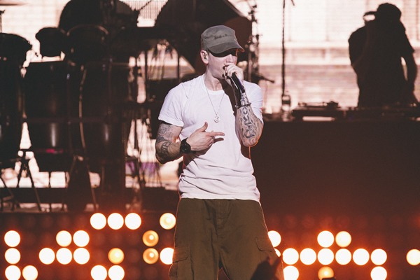 Eminem at Casio G-Shock's 30th Anniversary Party