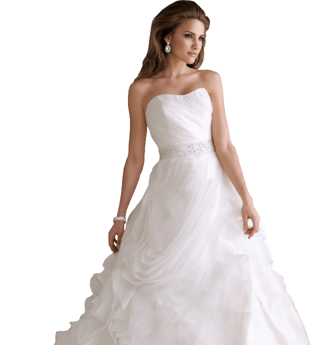 Woman With Wedding Dress Preservation Gown In Irving Tx