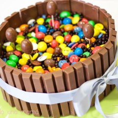Tarta KitKat, Lacasitos, M&M's y Nutella