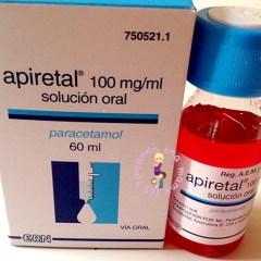 Apiretal: Dosis a administrar según peso y edad