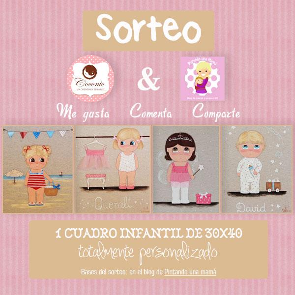 bcaeacf6a Sorteo Cuadro Personalizado Infantil Coconic con Pintando Una Mamá -  Pintando una mamá