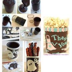 Vasos de Chocolate para Halloween y celebraciones Especiales