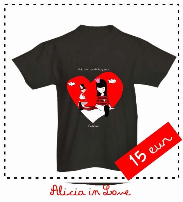 alicialove_mangacorta_Camiseta_Negra_PintandoUnaMama