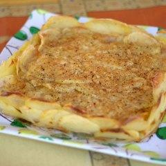 Tarta de Patata Rellena de Jamón y Queso