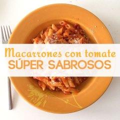 Macarrones con Tomate Súper Sabrosos