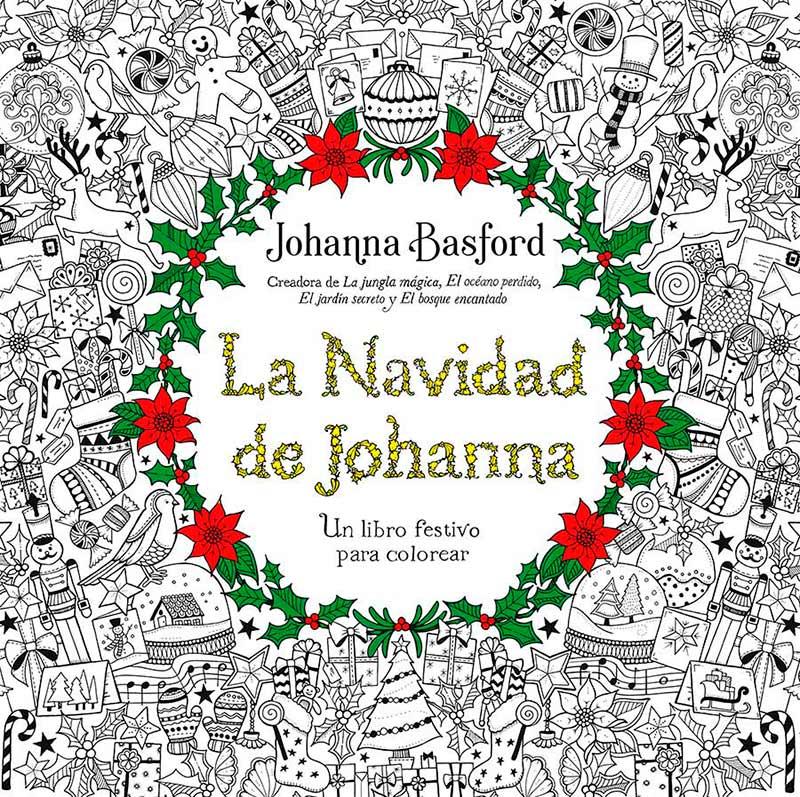 Libros para Colorear para Adultos La Navidad de Johanna Basford ...