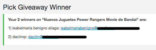 ganadores power rangers