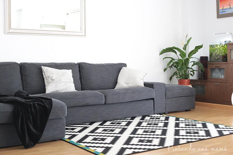 Sofá de Ikea Kivik en gris antracita