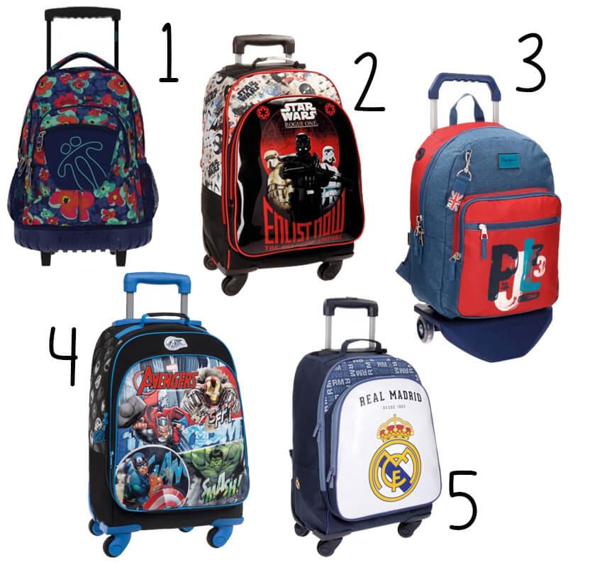 mochilas escolares con carro