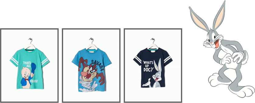 Ropa Looney Tunes en Zippy