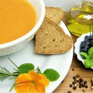 Receta sencilla de sopa de zanahoria y naranja