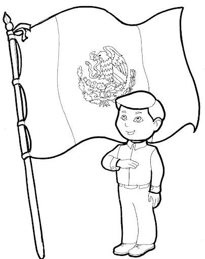 De Para Dia De Bandera Colorear Mexico De Dibujos Del Bandera La La