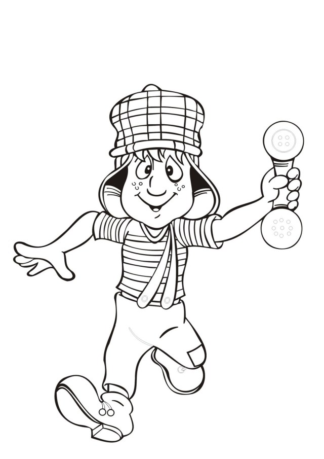 El chavo coloring pages
