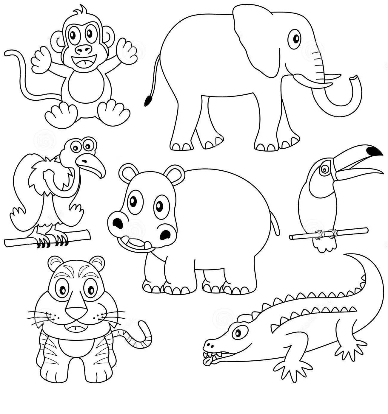 Animales Herviboros Para Colorear