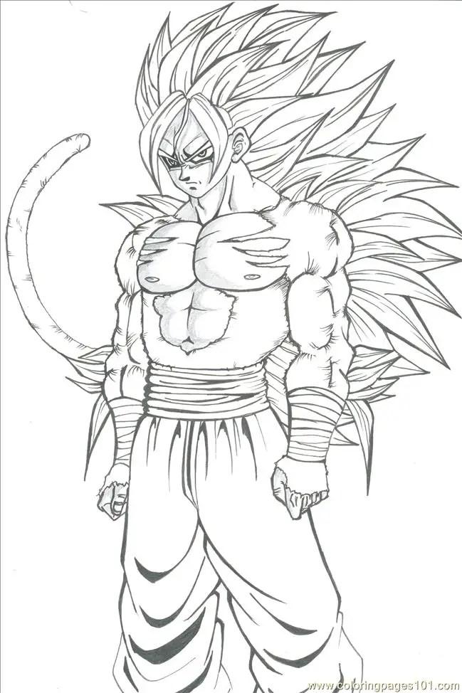 Dibujos para colorear goku black. Goku para colorear, pintar e imprimir