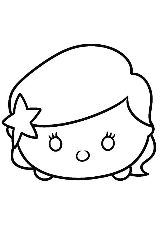 Black And White Tsum Tsum Belle