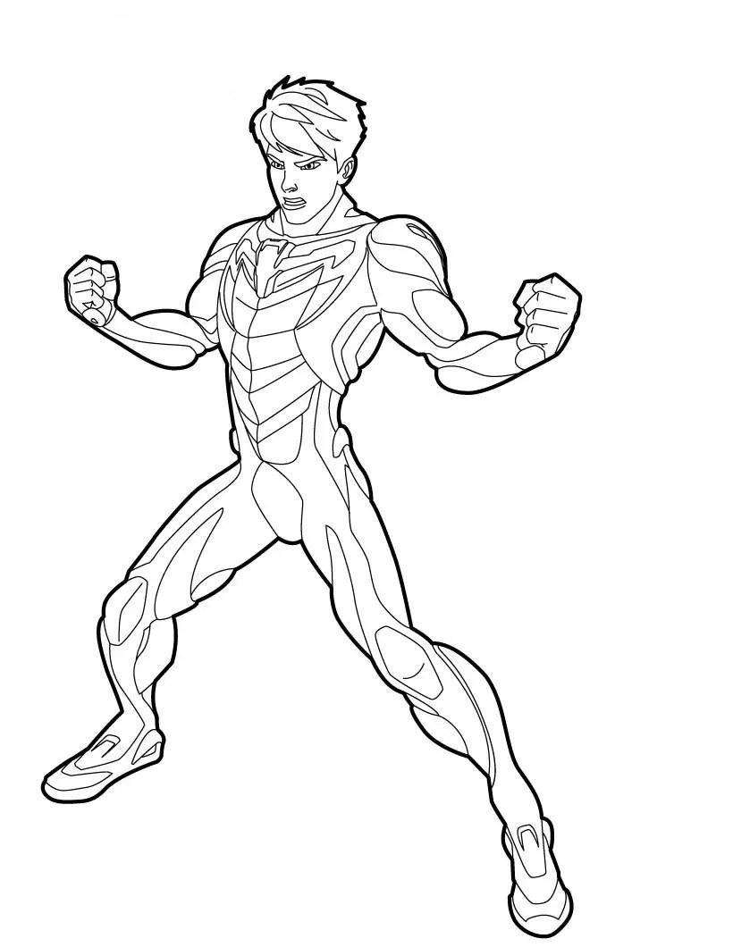 desenhos para colorir do max steel novo