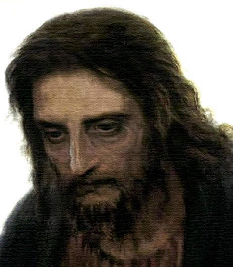 Retrato de Cristo, pintura por el ruso Kramskoi.