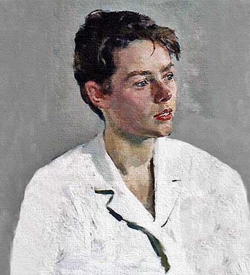 Muchacha, retrato impresionista por Pushnin.
