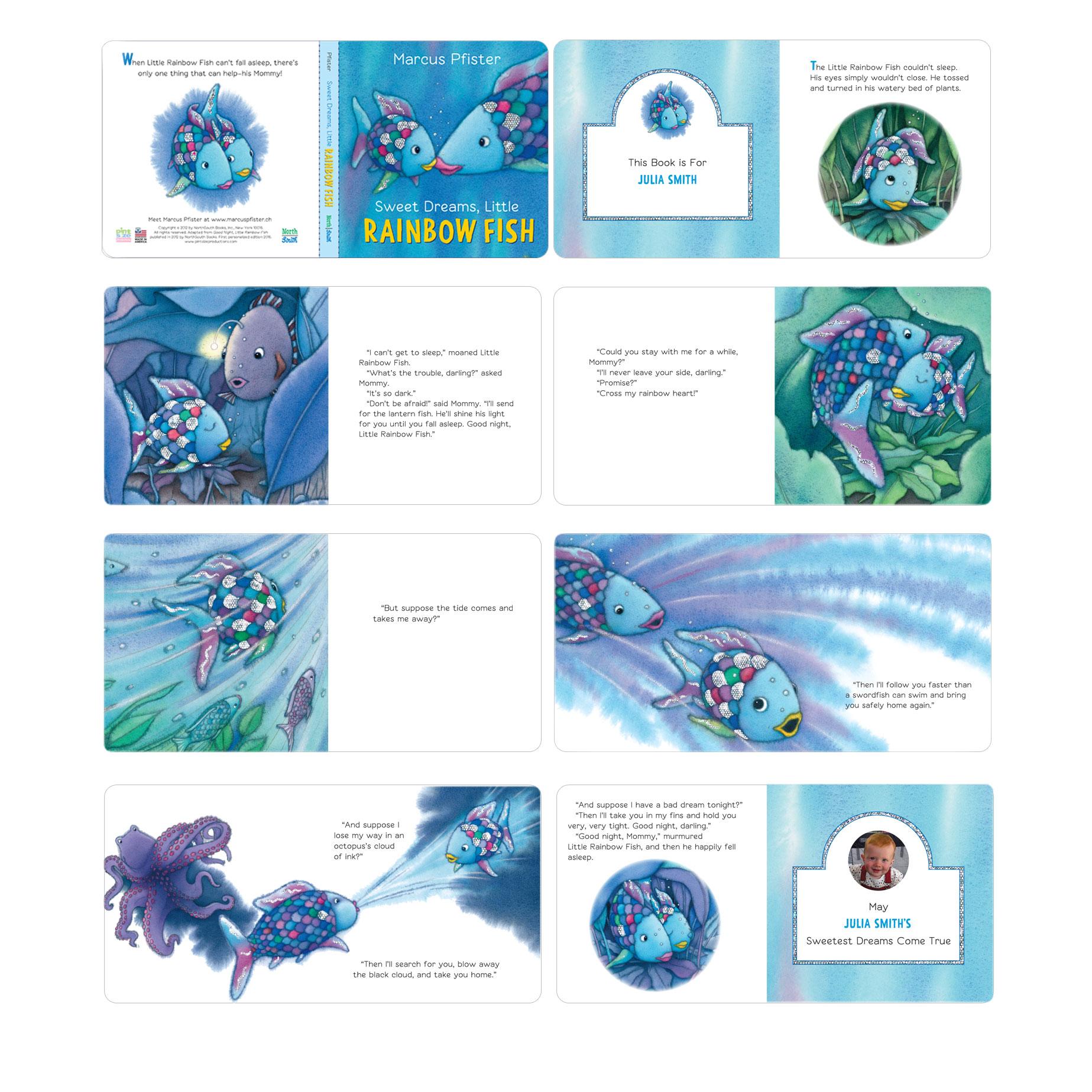 Personalized Rainbow Fish Board Book