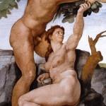 Escena del Pecado Original - Capilla Sixtina