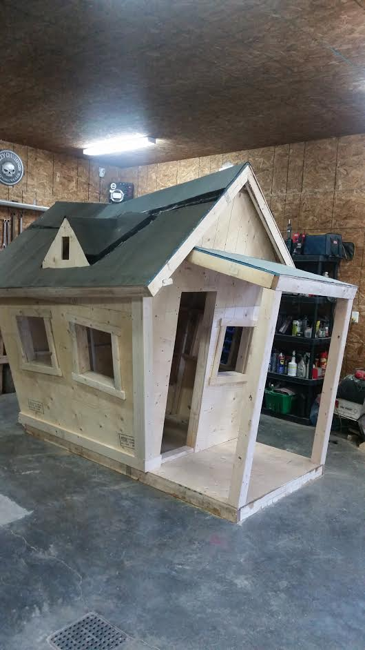 Building Timber Shed