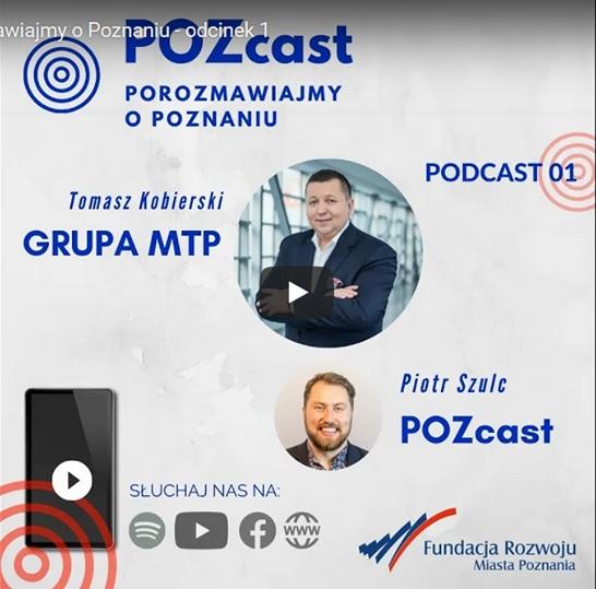 Screen ekranu komputera z pierwszym podcastem z serii POZcast
