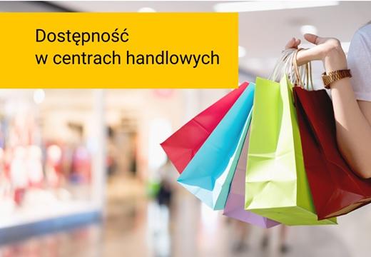 Grafika promująca publikację Dostępność w polskich centrach handlowych