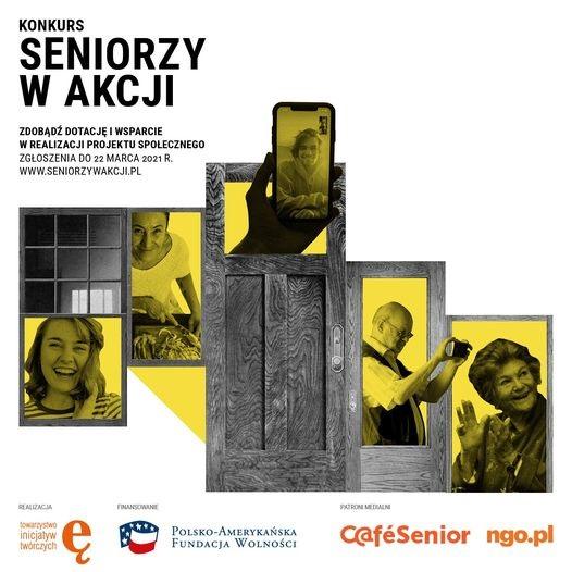 Plakat promujący program Seniorzy w Akcji