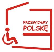 """Logo akcji """"Przewijamy Polskę"""""""