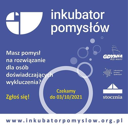 Plakat promujący nabór do Inkubatora Pomysłów