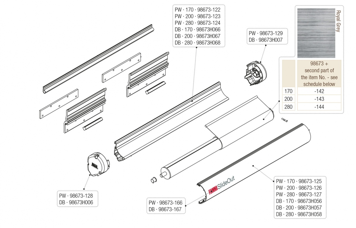 Fiamma Spare Parts For Awnings