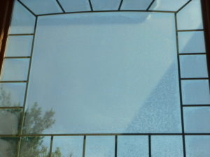 Fogged palladian window