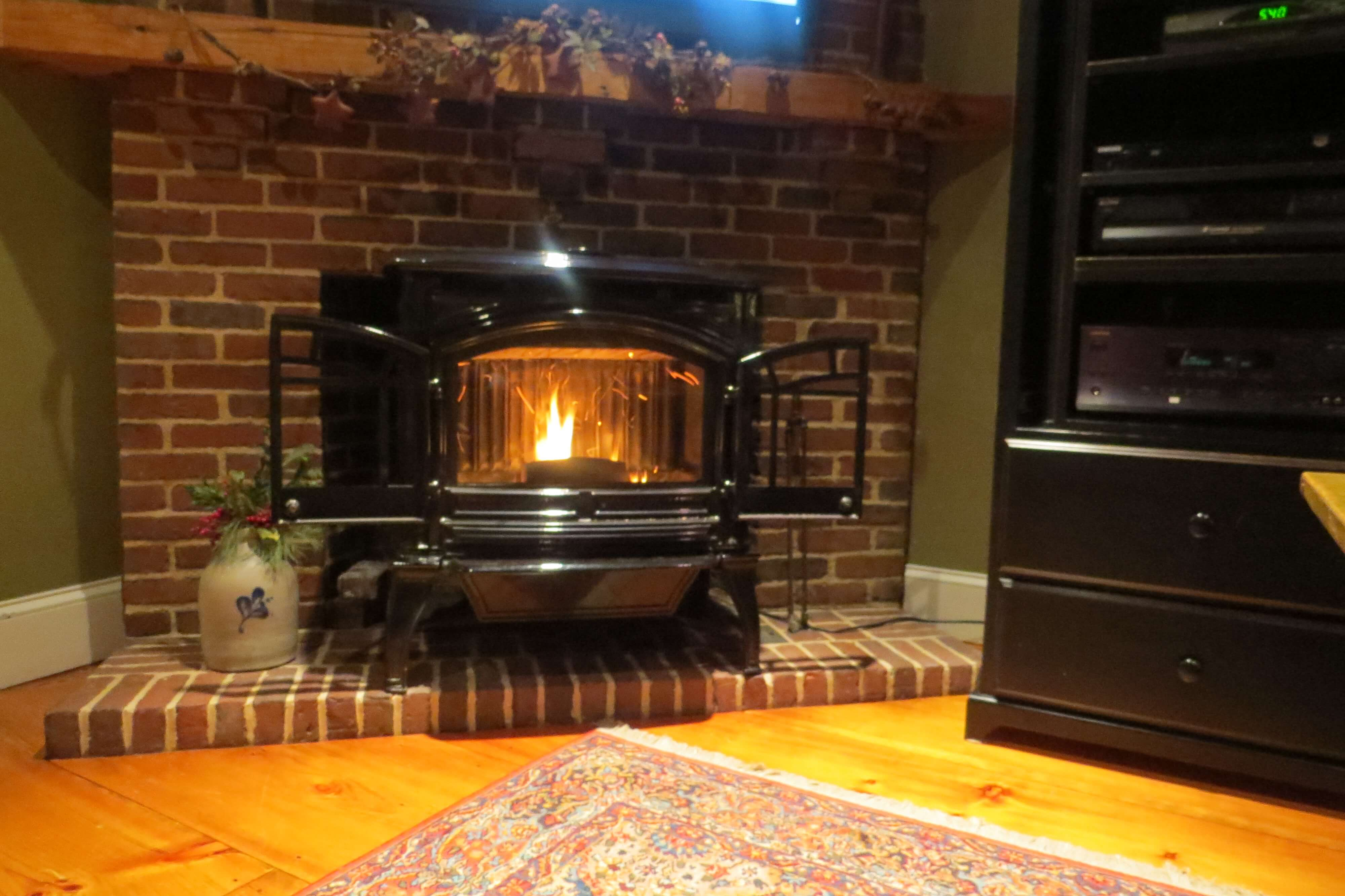 Fireplace stove glass