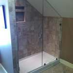 Shower Enclosure with sloped ceiling