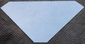 Pattern glass top – cut from a template