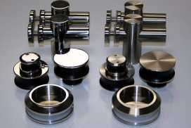 Polished (left) and Brushed (right) Stainless Steel for Skyline hardware