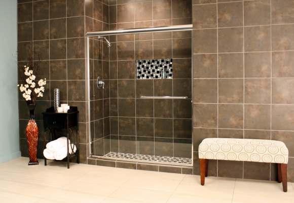 Shower Enclosures - Euro Series - TESE Chrome Clear 02