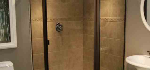 Thin Glass Pattern Shower Enclosures - Smoke, shower enclosure example