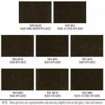 Shower Enclosure Powder Coating Finish Options: Black, various gloss