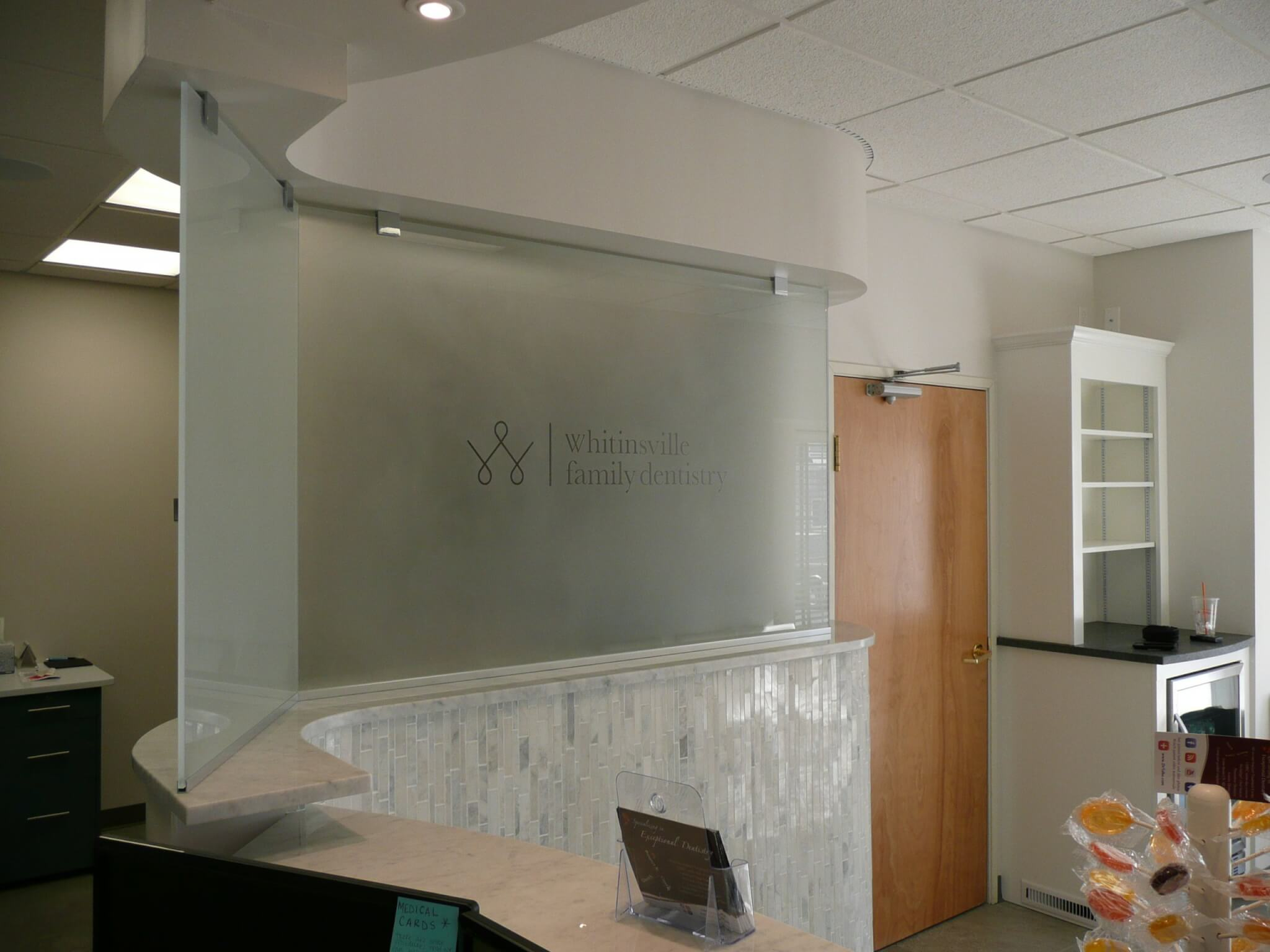 Privacy Glass installed in office
