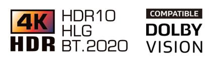 Logotipo 4k e logotipo dolby