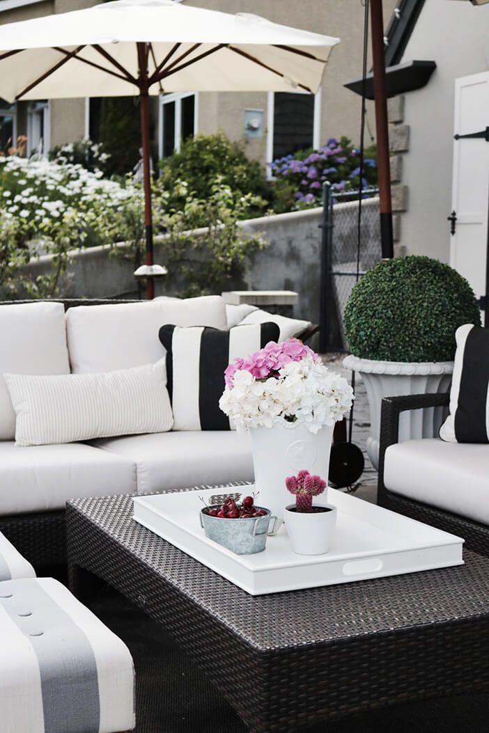 Savannah Aluminum & Wicker Deep Seating Collection on Black And White Backyard Decor  id=61875