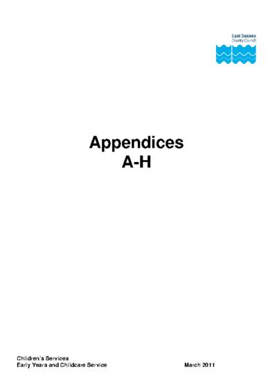 OAPE Appendix